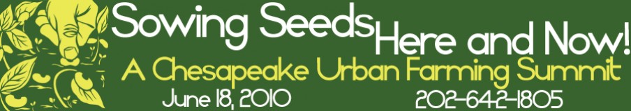 Sowing Seeds Here & Now: A Chesapeake Urban Farming Summit
